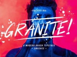 Free Granite Brush Font