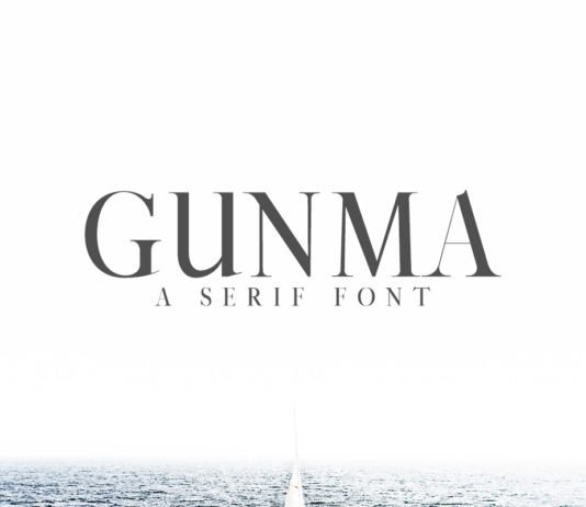Free Gunma Serif Font