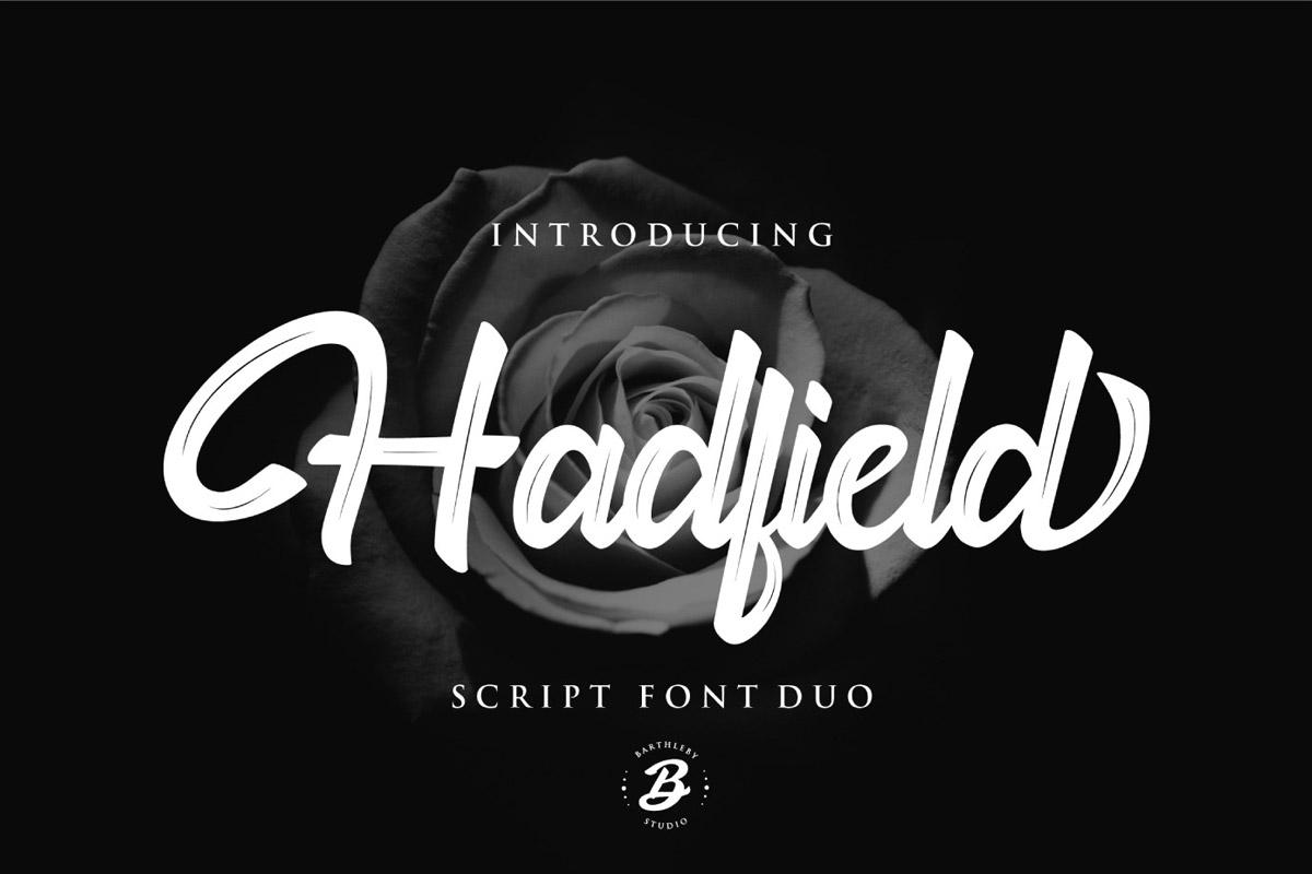 Free Hadfield Script Font