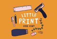 Free Little Print Display Font