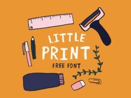 Free Little Print Display Font