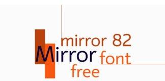 Free Mirror 82 Sans Serif Font