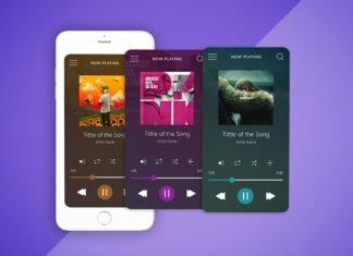 Free Music Player Interface UI Mockup
