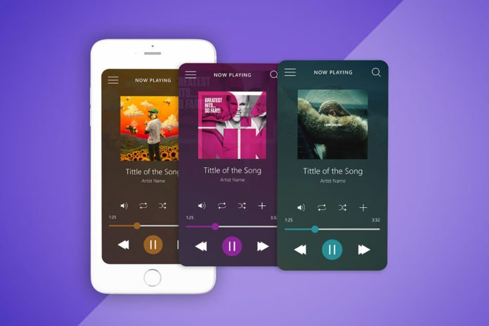 Free Music Player Interface UI Mockup