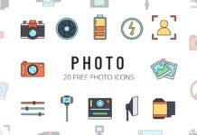 Free Photo Vector Icon Set