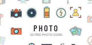 Free Photo Vector Icon Set