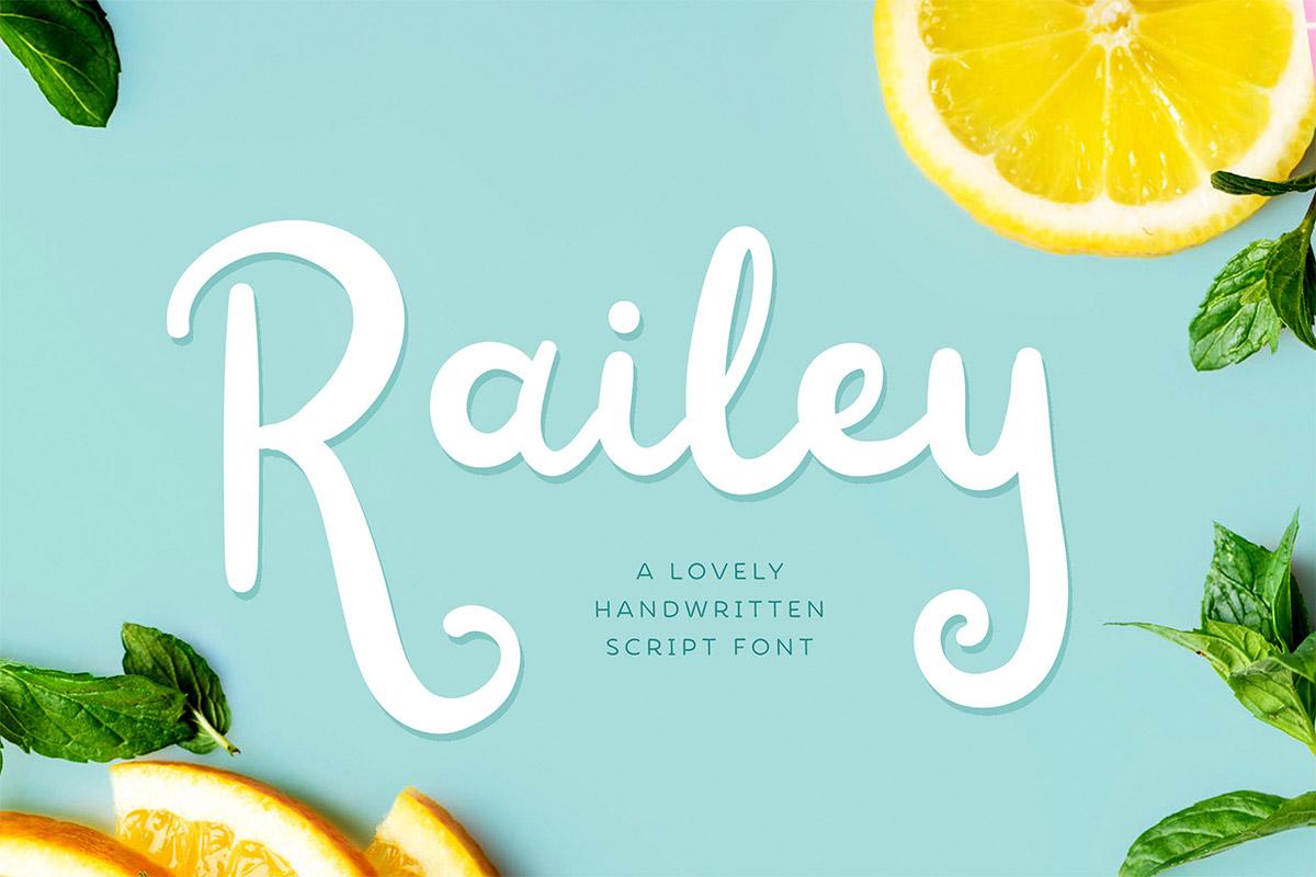 Free Railey Handwritten Script Font