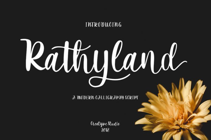 Free Rathyland Script Font