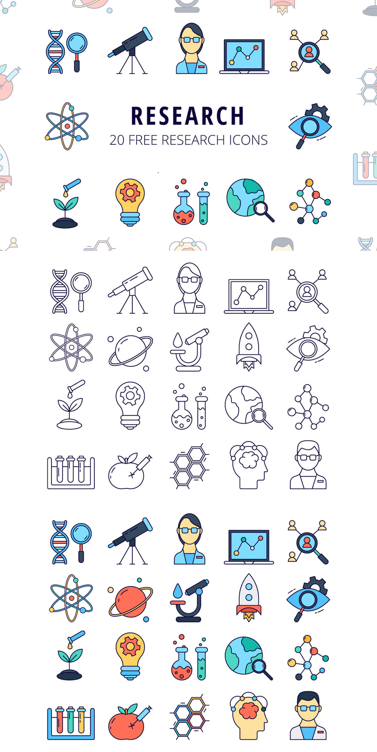 Free Research Vector Icon Set