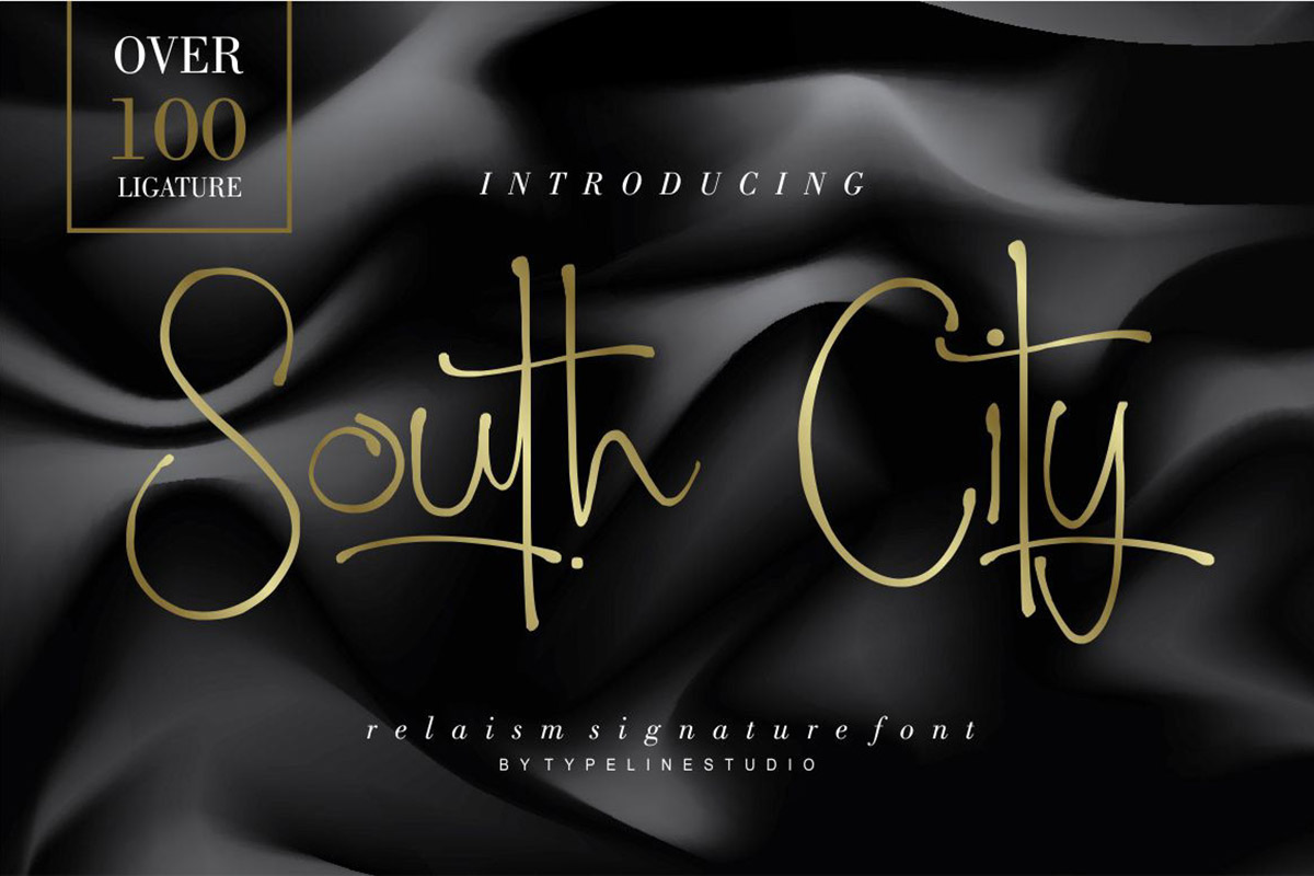 Free South City Signature Font