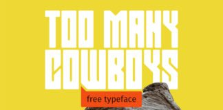 Free Too Many Cowboys Display Font