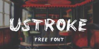 Free UStroke Brush Font