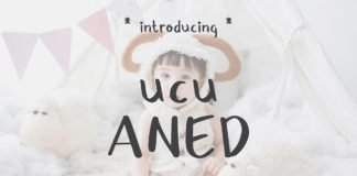 Free Ucu Aned Fancy Handwritten Font