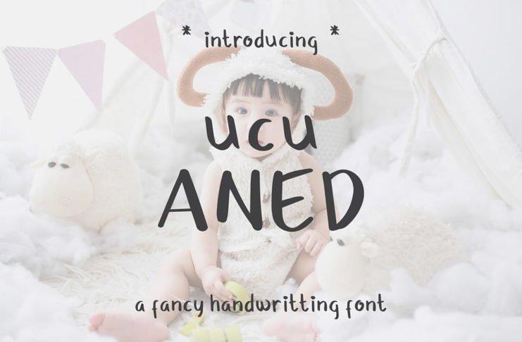 Free Ucu Aned Fancy Handwritten Font