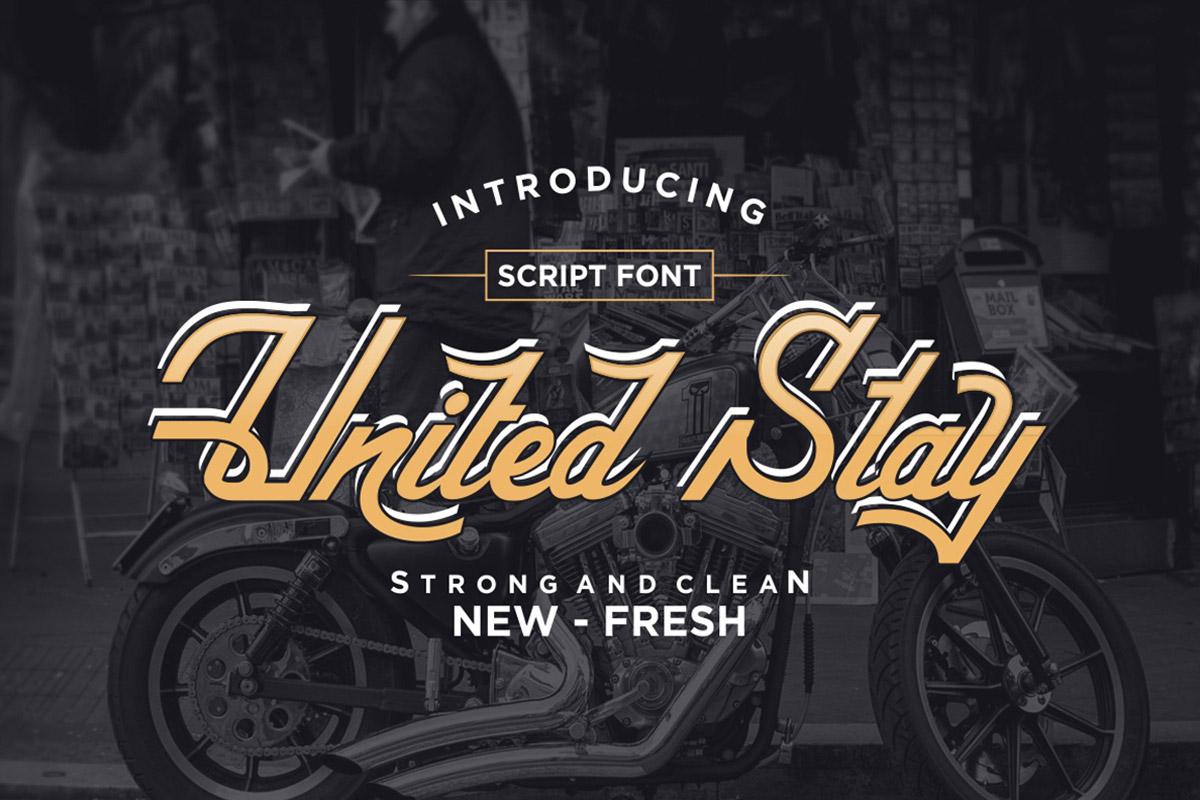 Free United Stay Script Font