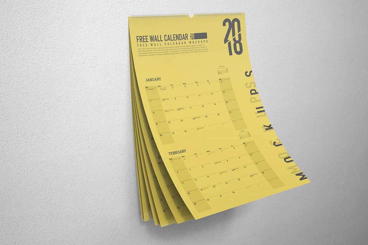 Free Wall Calendar Mockup Creativetacos