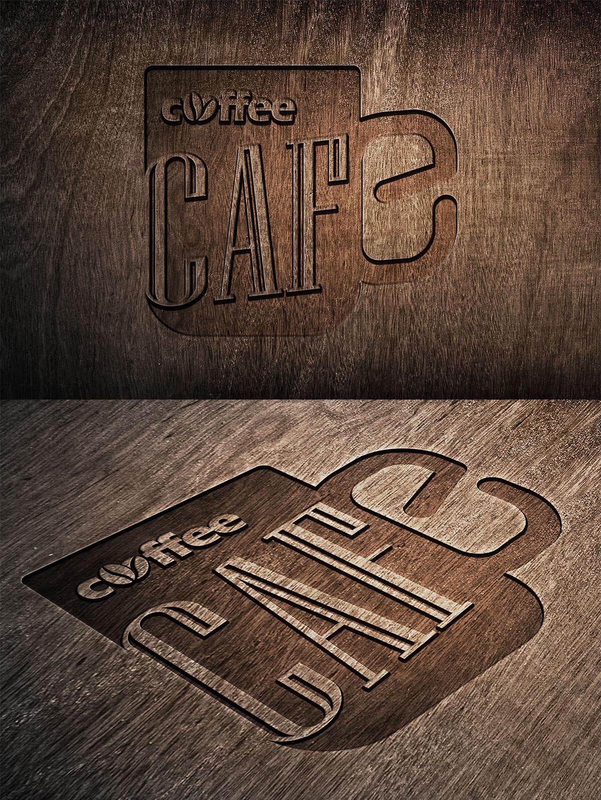 Free Wooden Logo Mockup