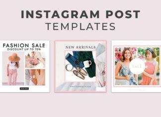 5 Free Fashion Instagram Social Media Post Templates Vol.1