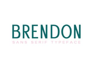 Brendon Sans Serif Elegant Pro Typeface - only $9! (+VAT)