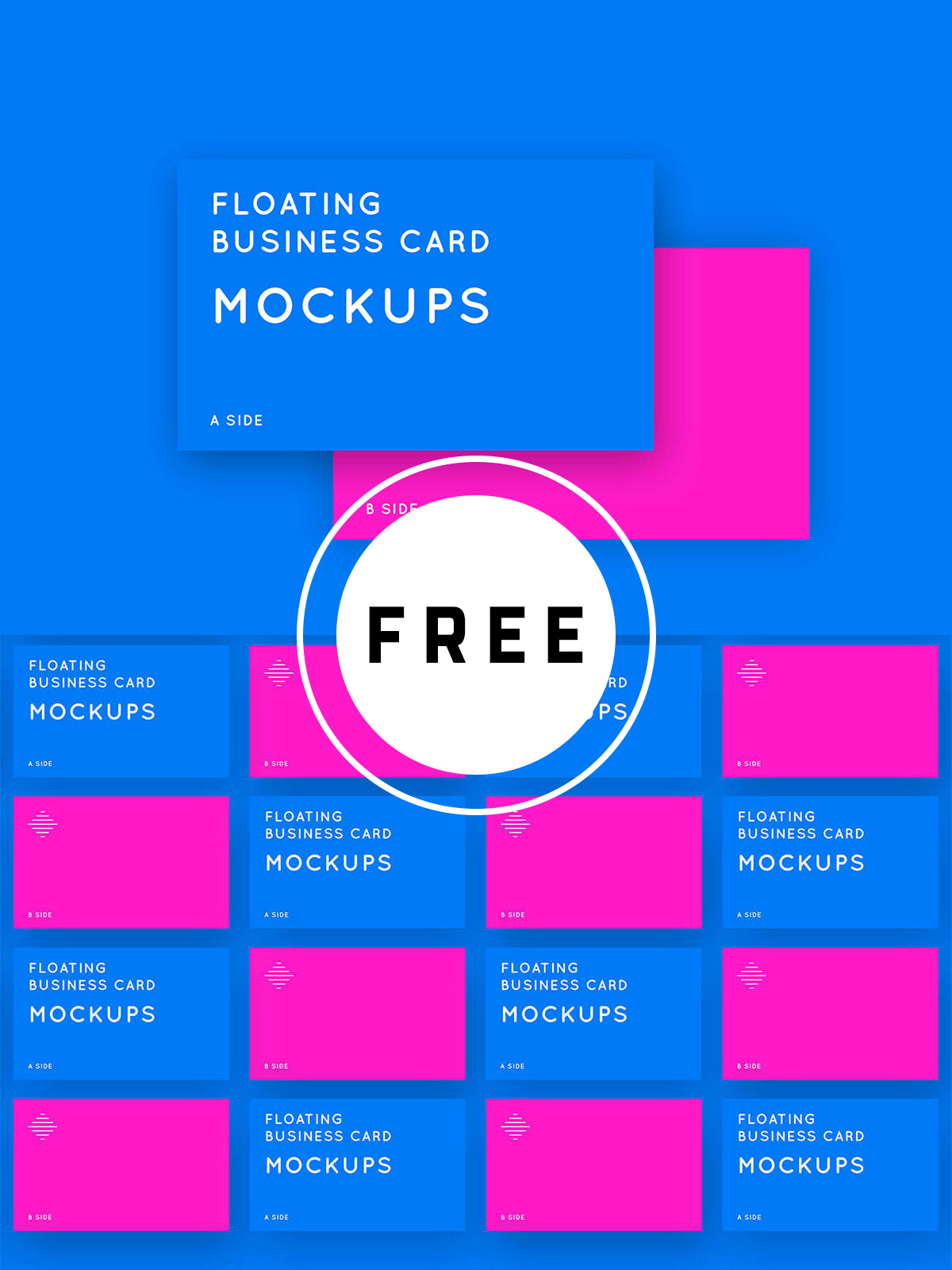 80 Great Free Business Card Mockups Templates That You Can Download