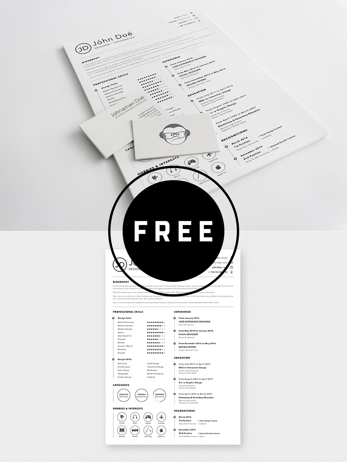 98 Awesome Free Resume Templates for 2019