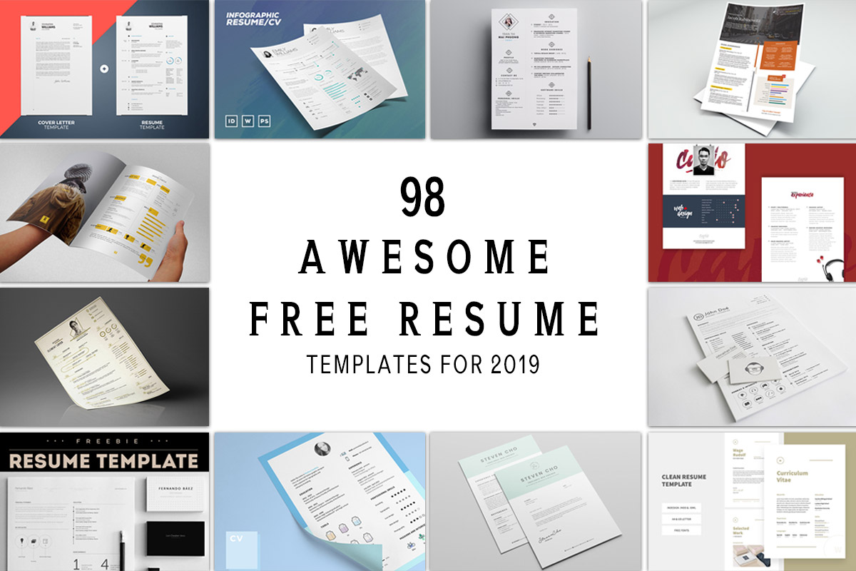 98 Awesome Free Resume Templates for 2019 - Awesome free resume template with icons