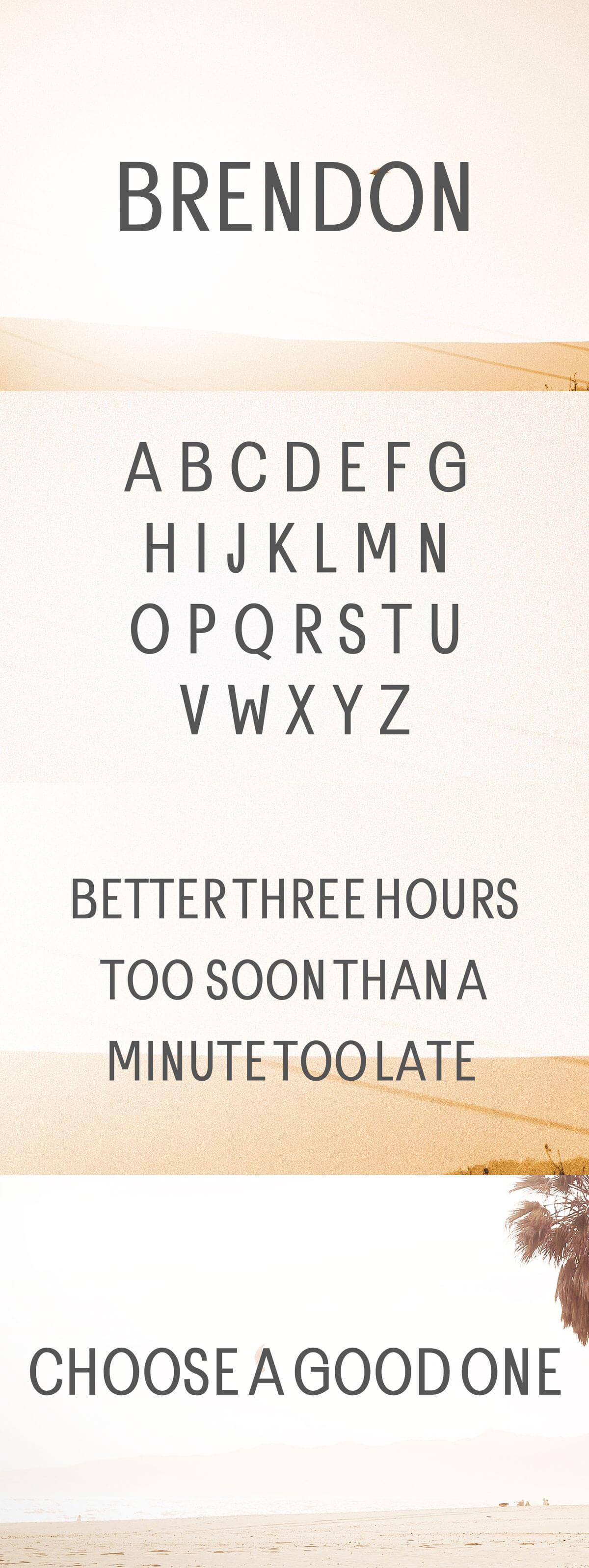 Free Brendon Sans Serif Font