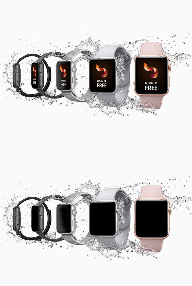 Free #Apple #Watch #Mockup is a high quality professional mockup coming by Vyacheslav Kagraman. It is an easy editable and customizable mockup with smart object.You can use this to showcase your creative designs. It's free for personal and commercial use.