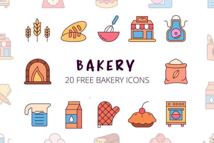 Free Bakery Vector Icon Set