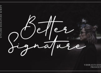 Free Better Signature Font
