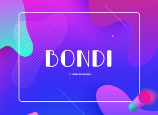 Free Bondi Display Font