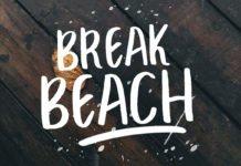 Free Break Beach Handmade Font