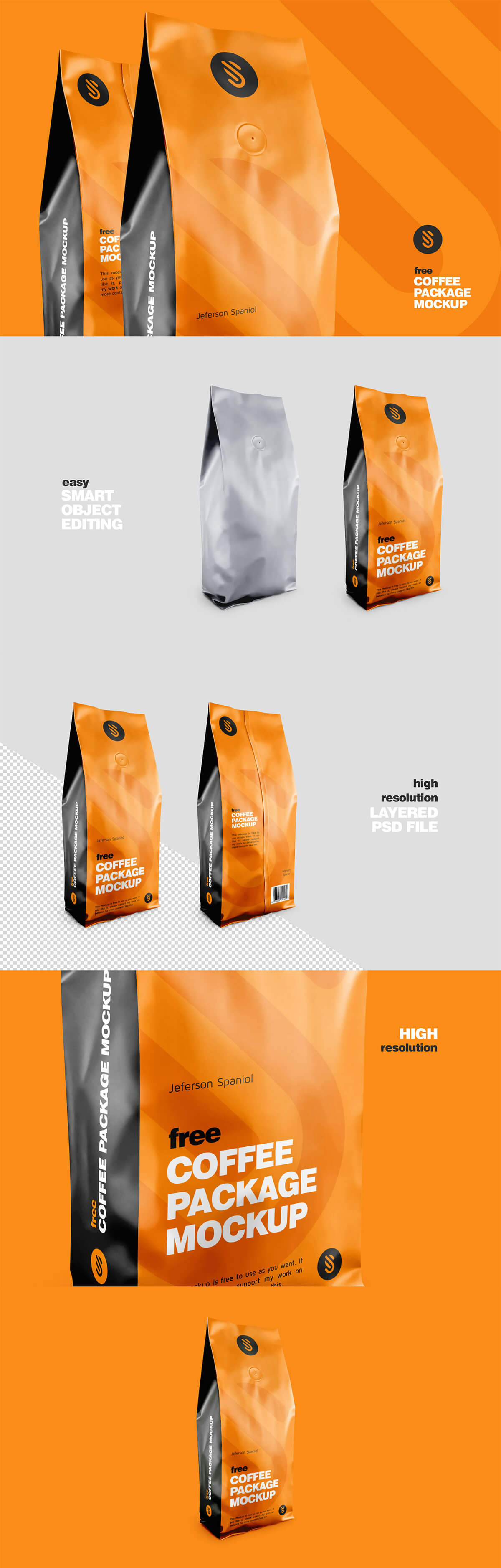 Free Coffee Package Mockup