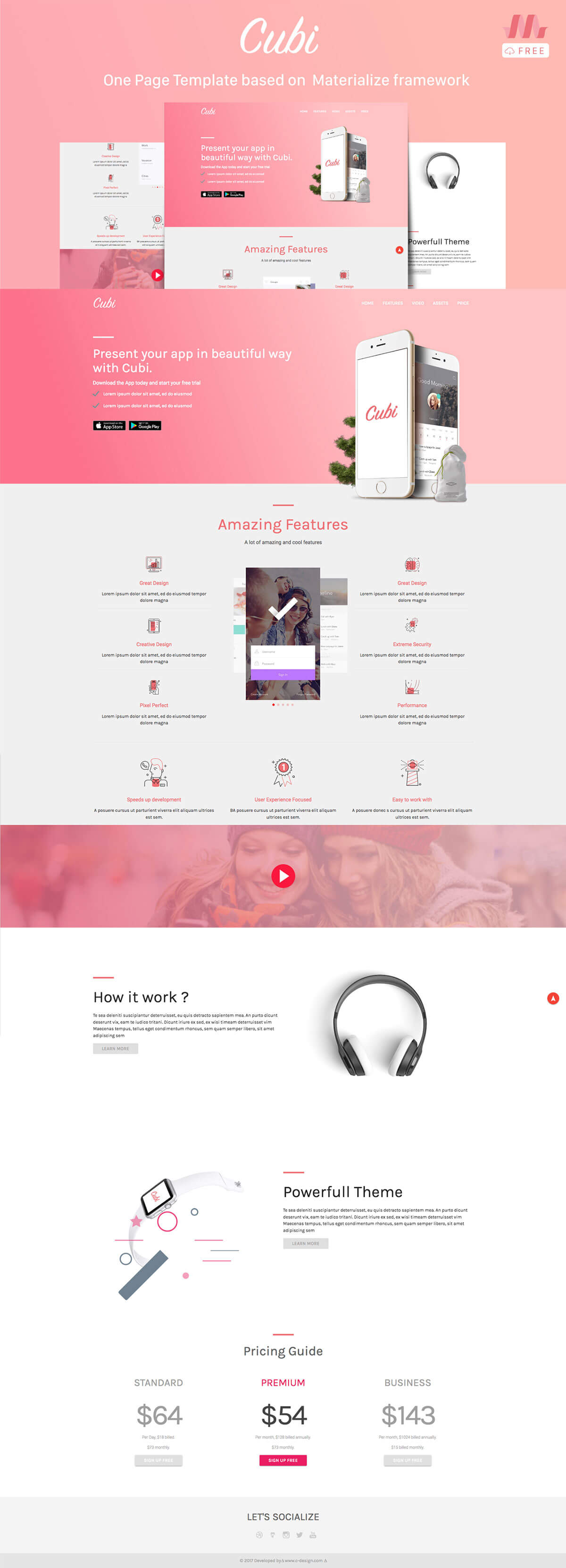 Free Cubi One Page Template