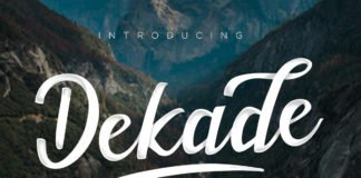 Free Dekade Brush Font