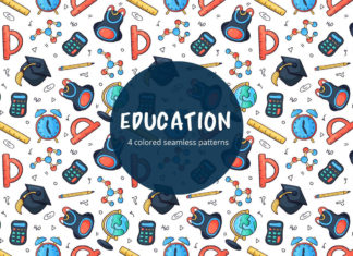 Free Education Vector Seamless Pattern