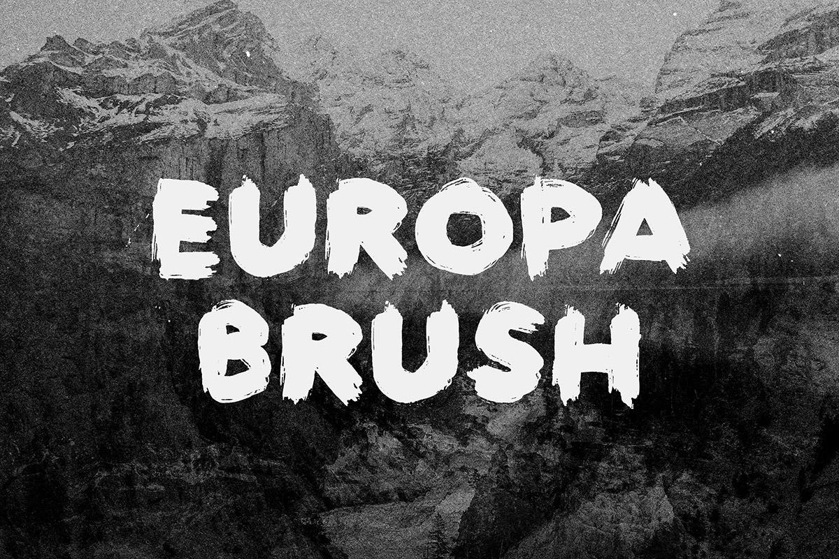 Free Europa Brush Font