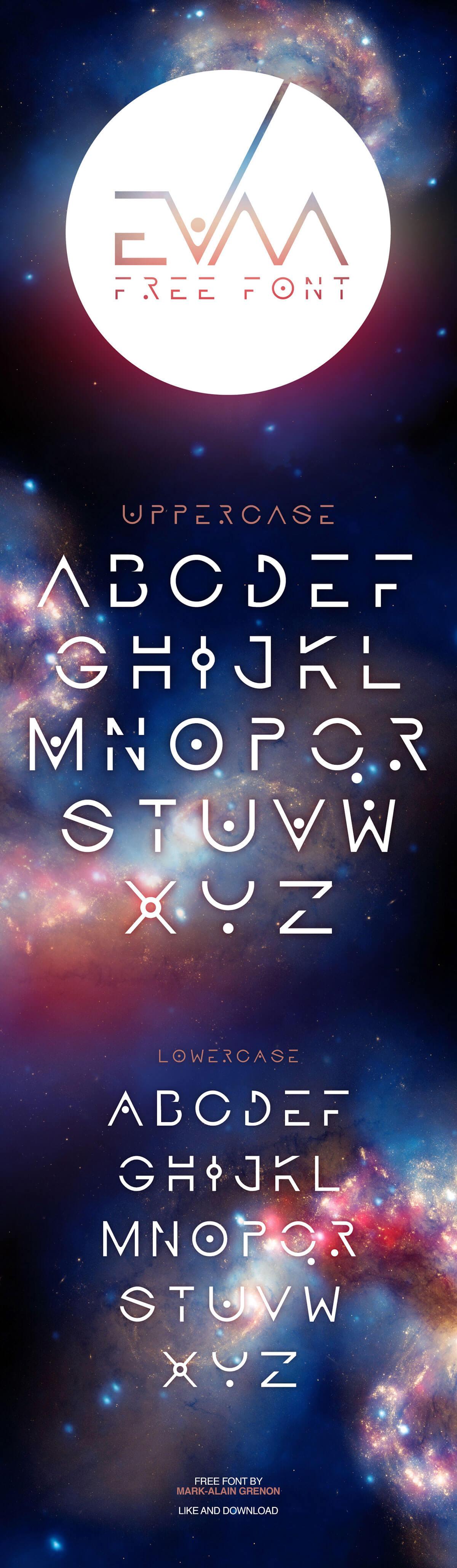 Free Evaa Galactic Display Font