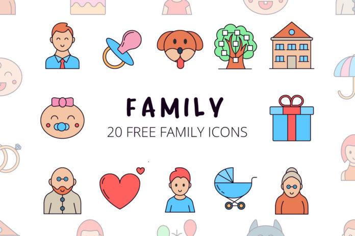 Free Family Vector Icon Set