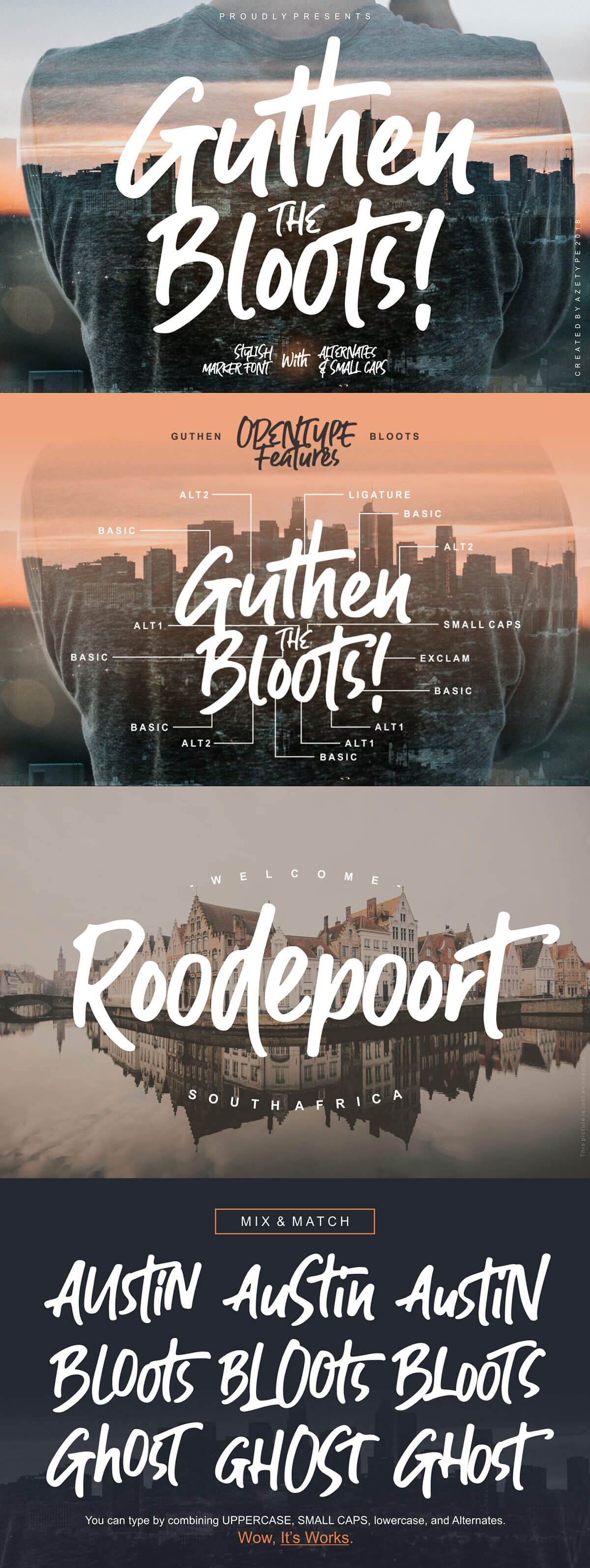 Free Guthen Bloots Brush Font