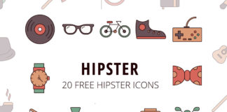 Free Hipster Vector Icon Set