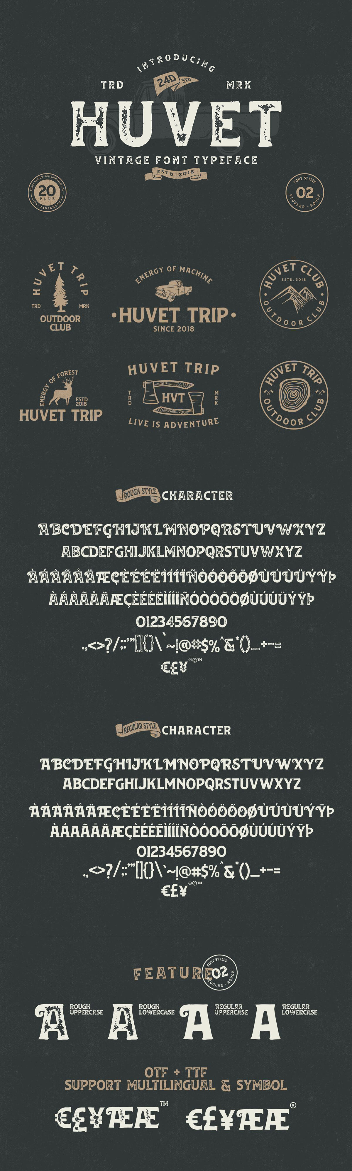 Free Huvet Display Font