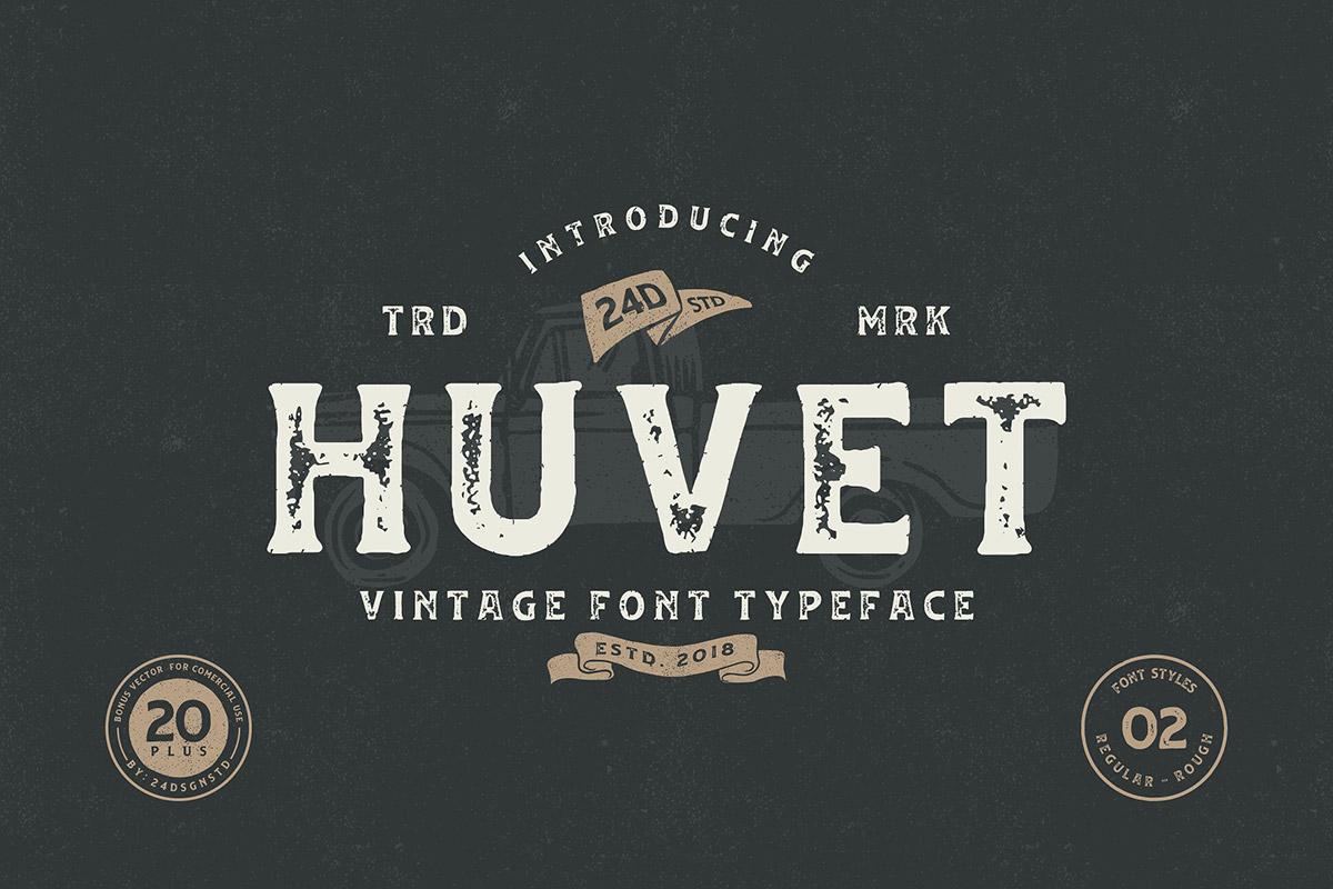Huvet Display Font Family