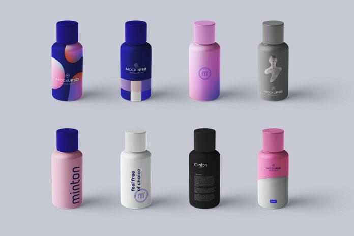 Free Just Bottle Mockup