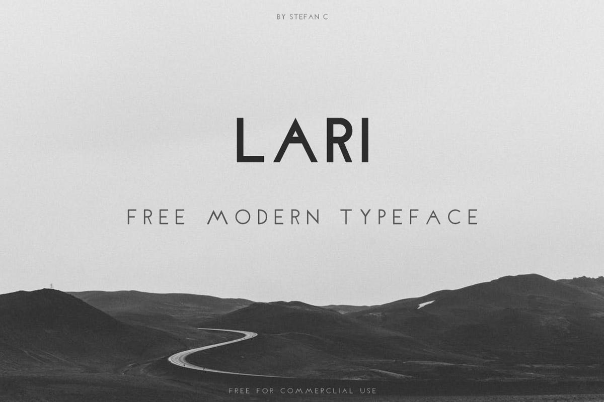 Free Lari Modern Sans Serif Typeface