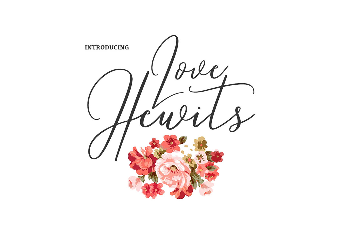 Free Love Hewits Calligraphy Script Font