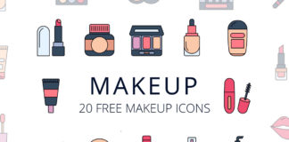 Free Makeup Vector Icon Set