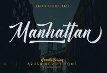 Free Manhattan Brush Script Font