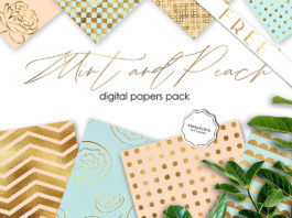 Free Mint & Peach Backgrounds