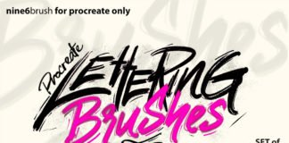 Free Nine6brush Procreate Lettering